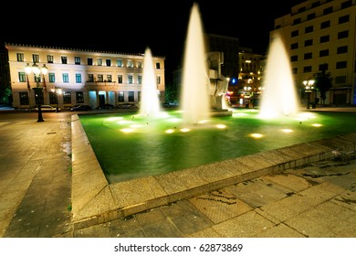 Athens by night, Greece
