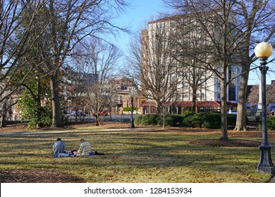 ATHENS, GA -6 JAN 2019- View of the campus of the University of Georgia (UGA), located in Athens, one of the oldest public universities in the United States.