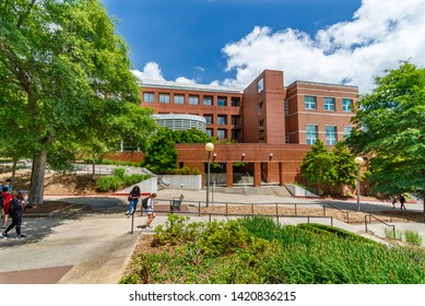 ATHENS, GA, USA - May 3: Dean Rusk Hall on May 3, 2019 at the University of Georgia School of Law in Athens, Georgia.