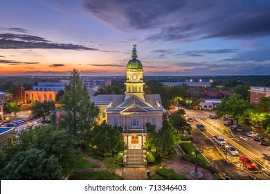 Athens, Georgia, USA downtown at city hall.