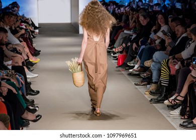 Athens, Greece, 03/30/2018, models catwalk in fashion show