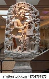 ATHENS, GREECE - APRIL 8, 2011: Statue of Orpheus in Byzantine and Christian Museum in Athens