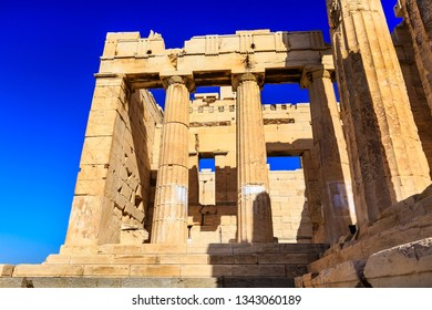 Athens, Greece close-up view of Parthenon temple in Acropolis