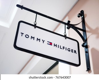 ATHENS, GREECE - DECEMBER 30, 2016: Tommy Hilfiger shop in a big mall of Athens, Greece