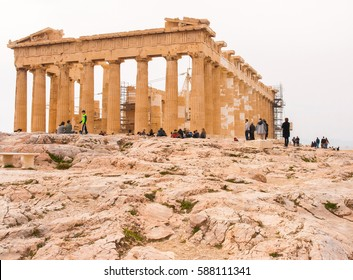 ATHENS, GREECE - FEBRUARY 19, 2017: The Partenon is the most important surviving building of Classical Greece.