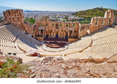 Athens Greece, Herodion theater under acropolis
