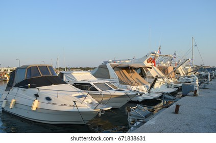 ATHENS, GREECE - JUNE 14: Fisherman's Wharf in Glyfada, Athens, Greece on June 14, 2017.