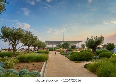 ATHENS GREECE, JUNE 2016: SNFCC Stavros Niarchos Foundation Grand Opening. Its an international philanthropic organization which makes grants in the areas of arts culture education and health medicine