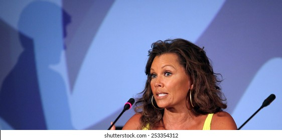 ATHENS, GREECE - JUNE 25: American actress, singer and former fashion model Vanessa Williams on June 25, 2011 in Athens, Greece. She became the first African-American woman crowned Miss America.