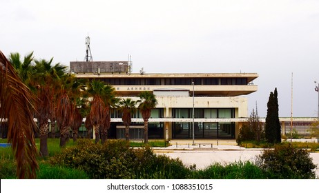 Athens, Greece - March 22, 2018: View of the terminal of the old, closed airport Athen-Ellinikon