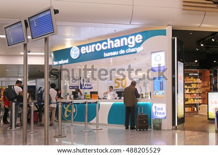 Athens greece may 05 currency exchange stock photo edit now