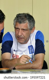 ATHENS GREECE MAY 29.2014. Greece's coach Fernando Santos during the last  training session in Athens before the Greek team departure abroad for preparations ahead the World Cup 2014 in Brazil.