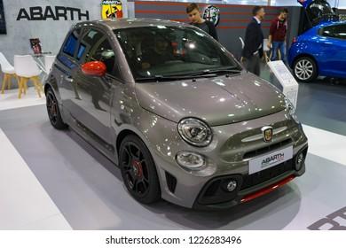 Athens, Greece - November 10 2018: Fiat 500 Abarth 595