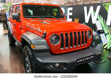 Athens, Greece - November 10 2018: Jeep Wrangler Rubicon