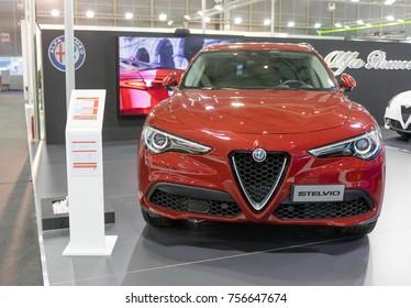 ATHENS, GREECE - NOVEMBER 14, 2017: Alfa Romeo Stelvio at Aftokinisi-Fisikon 2017 Motor Show.