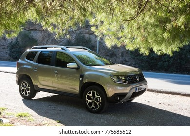 ATHENS, GREECE - NOVEMBER 23 2017: Photo from the New Dacia Duster first drive tests