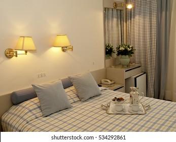 ATHENS, GREECE â?? NOVEMBER 27, 2009: Hotel room interior