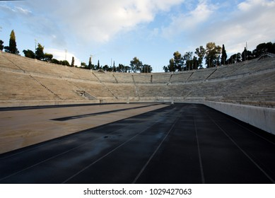 Athens, Greece - November 27 2017: Panathenaic Stadium in Athens. The stadium hosted the first modern Olympic Games in 1896.