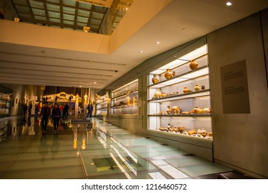 ATHENS, GREECE - OCTOBER 1: Exhibition of the new Acropolis museum on October 1, 2018 in Athens, Greece.