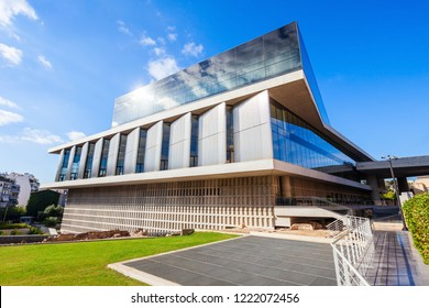 ATHENS, GREECE - OCTOBER 20, 2016: Acropolis Museum is archaeological museum focused on findings archaeological site of Acropolis of Athens in Greece.