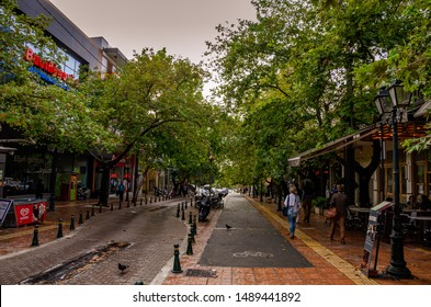 ATHENS - GREECE OCTOBER 2015: Urban view of the famous suburbs of Kifisia, Athens. Kifisia is an upscale residential and expensive shopping district of northern Athens, Greece.