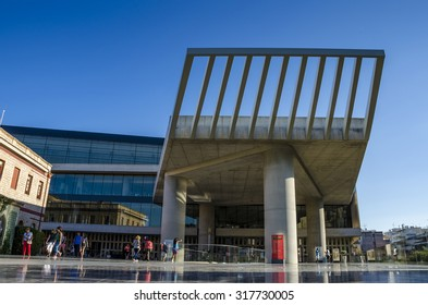 Athens - Greece September 17 2015:  The new Acropolis museum in Athens - Greece