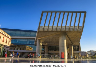 Athens - Greece September 2015:  The new Acropolis museum in Athens - Greece