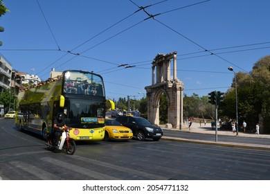 Athens, Greece, September 2021, Hop on Hop off bus