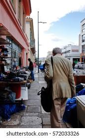 ATHENS, GREECE - SEPTEMBER 27, 2014 : Flea market at Monastiraki area.