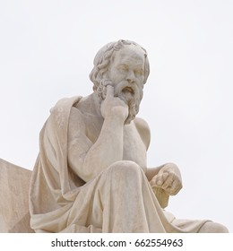 Athens Greece, Socrates the ancient philosopher statue