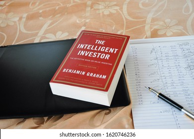Athens Greece-January 20 2020:The intelligent investor,the best book for stock market investors