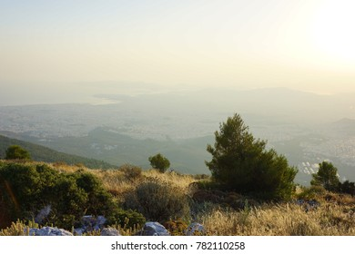 Athens from the mountains