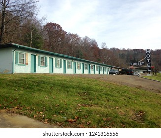 Athens, Ohio, USA, Nov. 23, 2018; The Sunset Motel in Athens Ohio is seen from a front view.