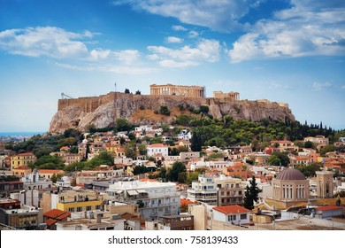 Athens skyline rooftop view, Greece.
