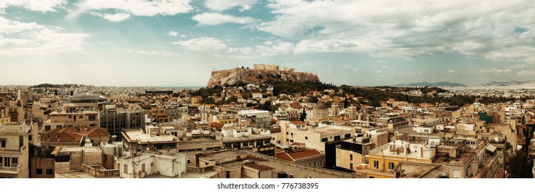 Athens skyline rooftop view panorama, Greece.