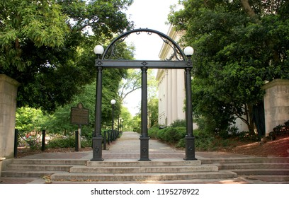 ATHENS-GEORGIA-USA-APR 27, 2017: The University of Georgia, also referred to as UGA or simply Georgia, is an American public, flagship, comprehensive research university.