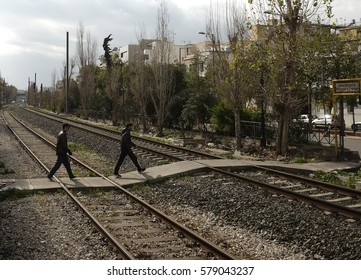 Athens,Greece - 26 January 2017 : Train station in Athens