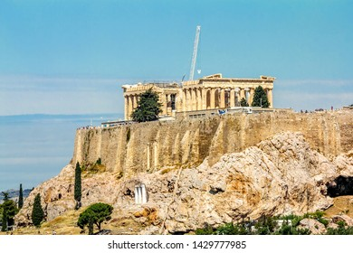 Athens.Greece.May 31, 2019. Parthenon on the Acropolis hill in Greece.