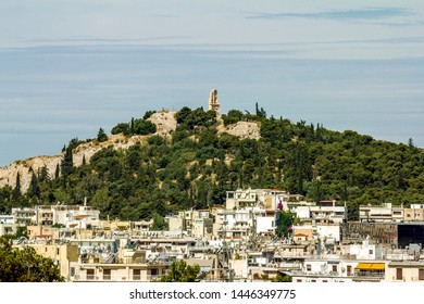 Athens.Greece.May 31, 2019. View from the height of the houses and roofs of the old city of Athens in Greece.