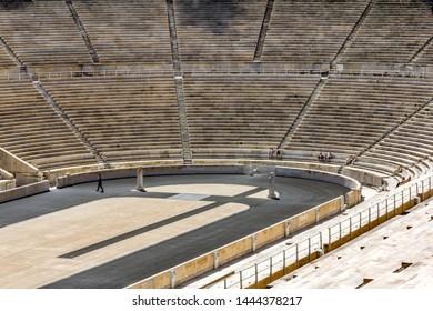 Athens.Greece.May 31, 2019. View of The Panathenaic stadium in Athens.