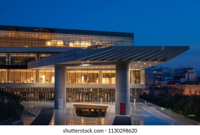 ATHENS,GREECE - 7 may 2018 : The new Acropolis museum is focused on the findings of the archaeological site of the Acropolis of Athens with 4,000 objects exhibited