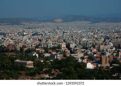 Athens/Greece - August 2010: City View of Athens