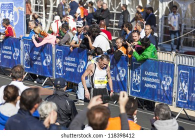 ATHENS,GREECE - NOV 11: 30th Athens Classic Marathon.Over 26,000 athletes from dozens of countries  took part in the classic marathon ,November 11, 2012 in Athens,Greece
