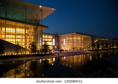 ATHENS-GREECE: OCTOBER 20, 2017:  The Greek National Opera is the country's state lyric opera company located in the Stavros Niarchos Foundation Cultural Center at the south suburb of Athens Kallithea