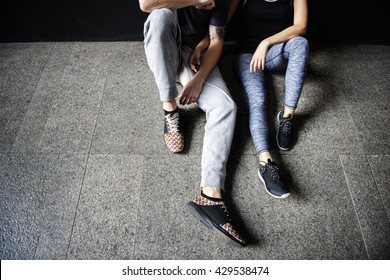 Athlete Couple Lifestyle Fit Fitness Sporty Gym Concept