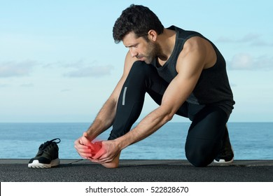 Athlete with foot injury