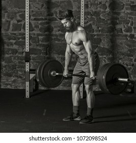 Athlete practicing heavy lifts