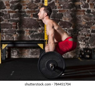 Athlete practicing olympic lifts