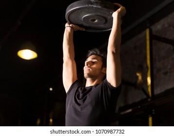 Athlete practicing shoulder drills