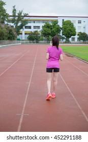 Athlete runner feet running